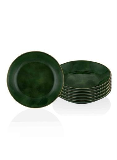 The Mia Deep Yemek Tabağı 6 Lı Set Yeşil Yeşil